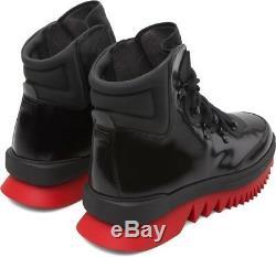 CAMPER LAB REX ANKLE BOOTS BLACK/RED US 11 EU 44 helix K300096-007 kiko together