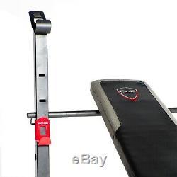CAP Strength Training Weight Bench Standard Bench Black/Red 350 lb Weight Cap