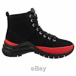 Calvin Klein Timotha Womens Black Red Suede Platform Boots