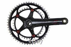 Campagnolo Centaur Black & Red Carbon 10 Speed Standard 39/53 Crank Set 165mm