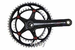 Campagnolo Centaur Black/Red Carbon Power-Torque 10 Speed Double Standard 39/53