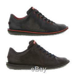 Camper Beetle 18648 Mens Black Brown Leather Shoes Trainers Size 8-11