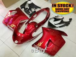 Candy Red Black Fairing Injection For Honda CBR1100XX 1996-2007 2002 IN STOCK