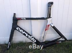 Cervelo S5 Size 56cm Frame Set Black/Red Aero Road Bike, New Old Stock In 2018
