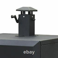 Charcoal Smoker Grill 1,176 sq in Vertical Offset Backyard BBQ Cooking Dyna-Glo