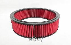 Chevrolet SBC BLACK Steel STOCK Valve Covers RED Logo + Red Washable Air Cleaner