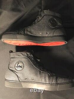 Christian Louboutin Gray Black Red Bottoms Sneakers 43.5 Us 10.5 Shoes Authentic