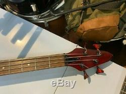 Custom 4 string Electric Bass guitar (JCC Customs) Custom Candy black/red