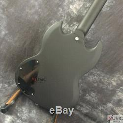 Custom Angus Matte Satin Black Red Burst SG Standard LP Electric Guitar