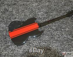 Custom Black Red Stripe Standard Slash LP Electric Guitar FREE SHIPPING