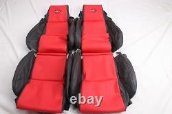 Custom Made 84-88 C4 Corvette Leather Seat Covers for Standard Seats Black Red