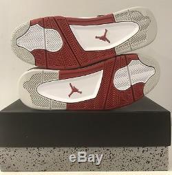 D-stock Air Jordan Retro 4 White Varsity Red Black IV Size 11.5 with Og box 2012