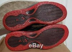 DEADSTOCK 2010 Nike Air Foamposite One size 10.5 COUGHDROP Black Red Penny Foams