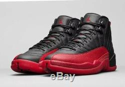 Dead Stock Nike Air Jordan XII 12 Flu Game Retro Black Red 130690 002 (Size 13)