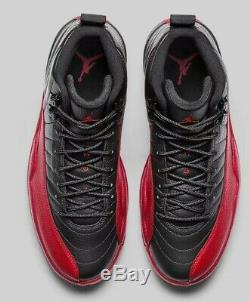 Dead Stock Nike Air Jordan XII 12 Flu Game Retro Black Red 130690 002 (Size 13)