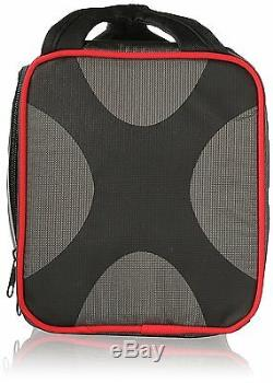 Fit and Fresh Jaxx FITPAK, Portion Control Container Set LUNCH BAG, Black Red