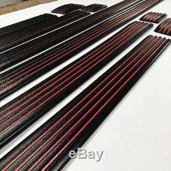 Fits 88-98 Cheverolet GMC SC SB Sport SS Black Red Line Precut Body Molding Trim