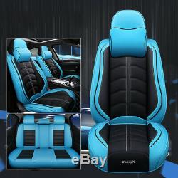 For Honda Toyota Car SUV Seat Covers Protector PU Leather Front & Rear Cushion