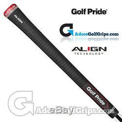 Golf Pride Tour Velvet ALIGN Grips Black / Red / White x 9