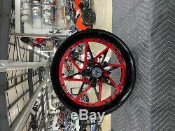 Gsxr600/750 Stock Size Black&red Center Wheel Package 06-07 Suzuki Gsxr600/750