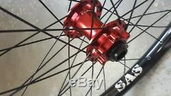 Halo SAS Pro Disc Wheels (26) Mountain Bike Downhill Dirt Jump (Black Red)