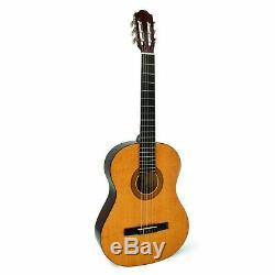 Hohner AC06 Nylon String Full Size Acoustic Guitar New MBT Black Red Trim Case