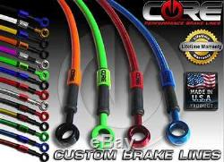 Honda Cbr600rr 2013-2017 Front And Rear Custom Brake Line Kit Core USA