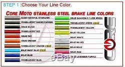 Honda Crf250l 2013-2015 Single Front & Rear Custom Brake Line Kit Core USA