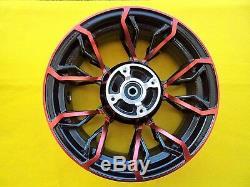 Honda MSX125 SF Custom Wheel Rims Wheels BLACK / RED 2016 2020 UK STOCK