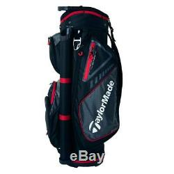 In Stock TaylorMade Golf Select Cart Bag 14-Way (Black/Red) 2019 Free Ship 5 Lbs