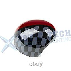 JCW Red Black Side View Mirror Covers Caps For MINI Cooper F56 F55 F54 F57