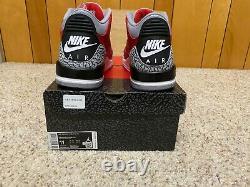 Jordan 3 red cement Size 11 Mens CK5692-600 NIB unite black bred nike retro