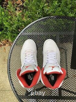 Jordan 5 V Retro Fire Red White Black Metallic OG Size 11 DA1911-102 Nike Air