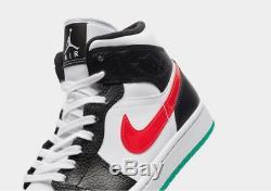 Jordan Air 1 Mid White-Black-Red BQ6472-063 Limited Stock