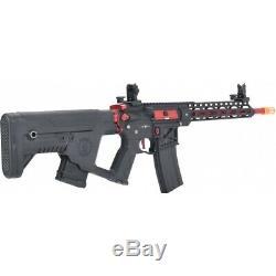 Lancer Tactical Enforcer BLACKBIRD Skeleton AEG Alpha Stock LOW FPS BLACK/RED