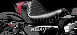 Le Pera LK-416RED Stubs Spoiler Seat Standard Black / Red 10-14 Harley XL883N