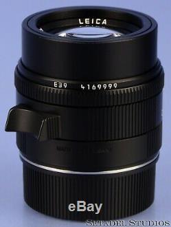 Leica 50mm Apo-summicron-m F2 Asph Black Red Scale 11411 6bit Lens +bx Mint Rare