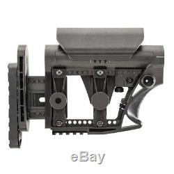 Luth Styled MBA-3 Black Rifle Stock Black with Red Swivel Base
