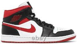 Men Size 9-13 Nike Air Jordan 1 Mid Metallic Gym Red/Black/White 554724-122