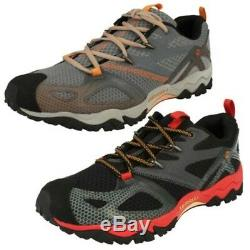 Mens Merrell Performance Rounded Toe Lace Up Textile Trainers Grassbow Rider