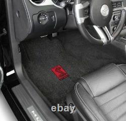 NEW! 2015-2021 Mustang Black Floor Mats Carpet Shelby Cobra Red GT350 In Stock