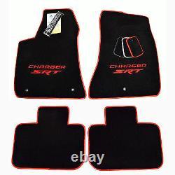 NEW! Dodge Charger SRT Floor Mats Sedan Red Logo Red Trim -SRT 392 IN STOCK