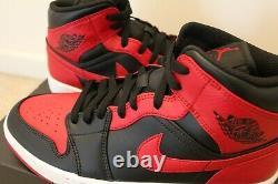 NEW Nike Air Jordan 1 Mid Banned Black Red 554724-074 men size 10.5
