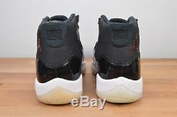 NEW Nike Air Jordan Retro XI 11 72-10 Size 10.5 Black Red White Bred 378037-002
