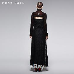 NEW Punk Rave Gothic Victorian Black & Red Dress Q-243 ALL STOCK IN AUSTRALIA