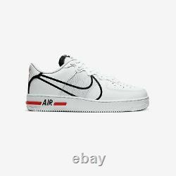 NEW Size 8 Nike Air Force 1 React D/MS/X White Black Red CD4366-100 AF1 Low Top