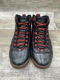 NIKE AIR JORDAN 10 X RETRO DB DOERNBECHER Black Red Bred Grey 636214-066 Sz 8.5