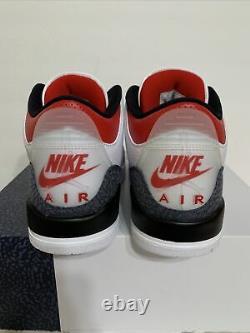 NIKE AIR JORDAN 3 RETRO SE MENS Sz 10.5 WHITE/FIRE RED/BLACK NEW 1/2 BOX