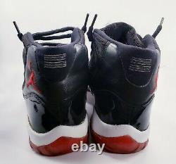 NIKE- Air Jordan XI 11 Playoffs -Black/Red- 136046-061 -Men's Size 11