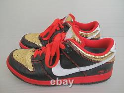 NIKE ID 10.5 Black Red Gold Low Pro Supreme SB Dunk Sneakers Shoes